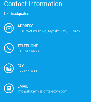 contact global mission telecom