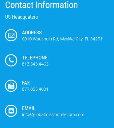 contact global mission telecom